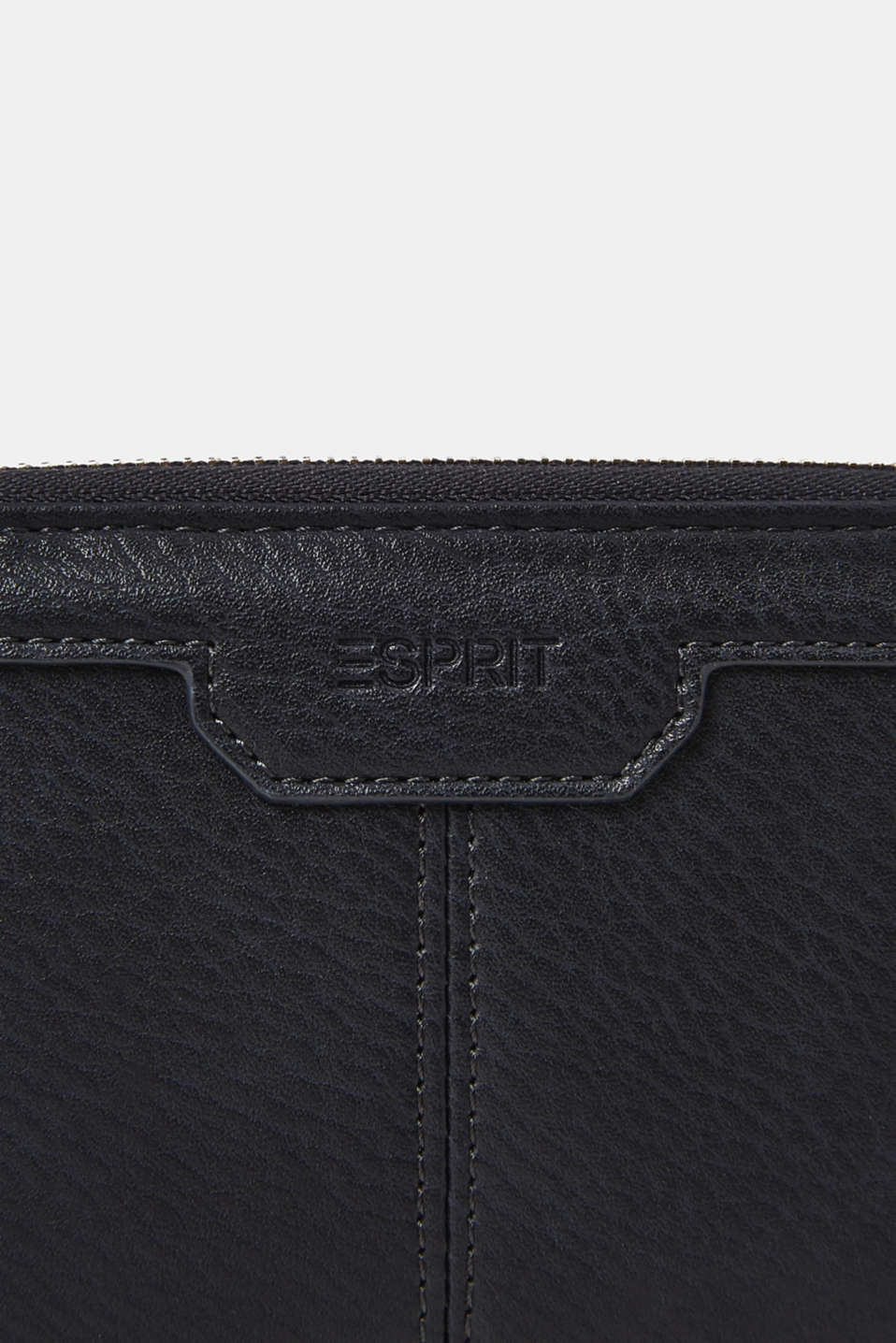 Large purse in a grained look, NAVY, detail image number 1