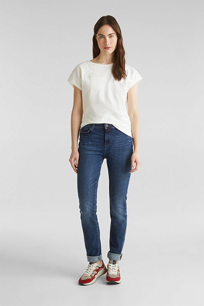 Stretch-Jeans in neuer Qualität, BLUE DARK WASHED, detail image number 0