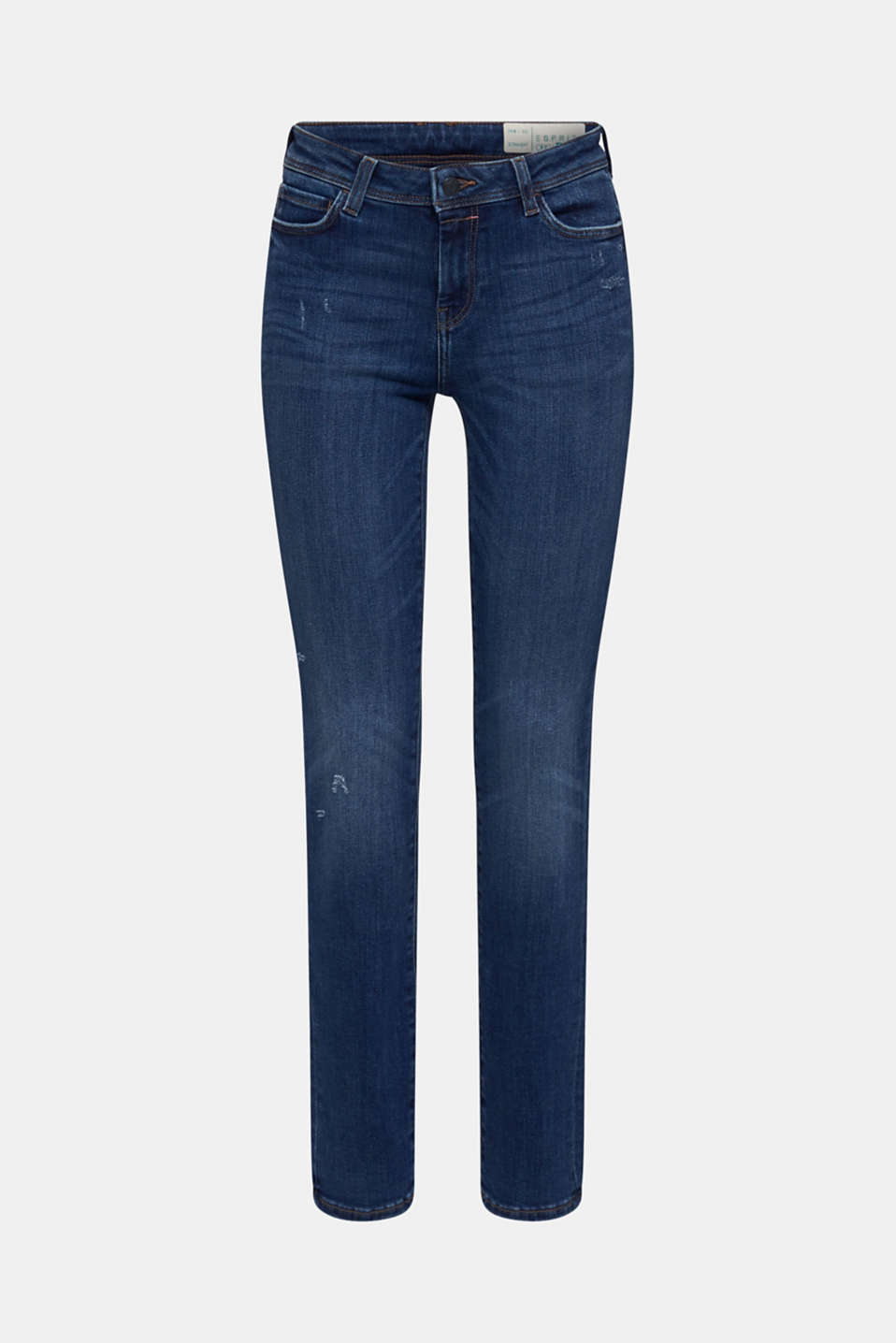 Stretch jeans in new fabric, BLUE DARK WASH, detail image number 7