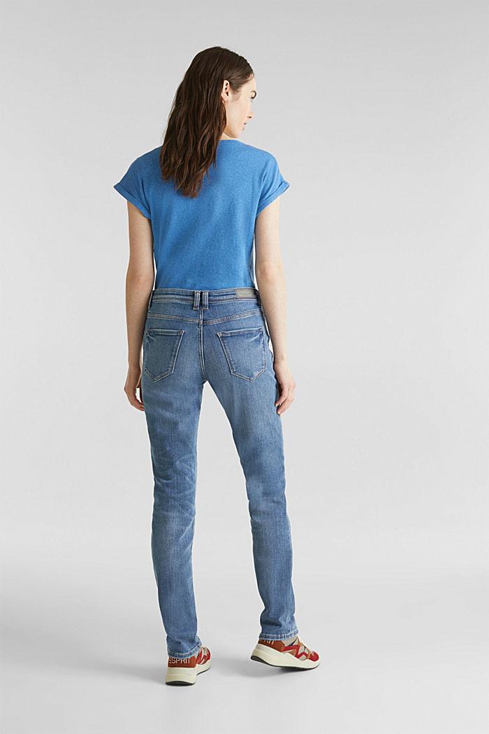 Stretch-Jeans in neuer Qualität, BLUE MEDIUM WASHED, detail image number 3