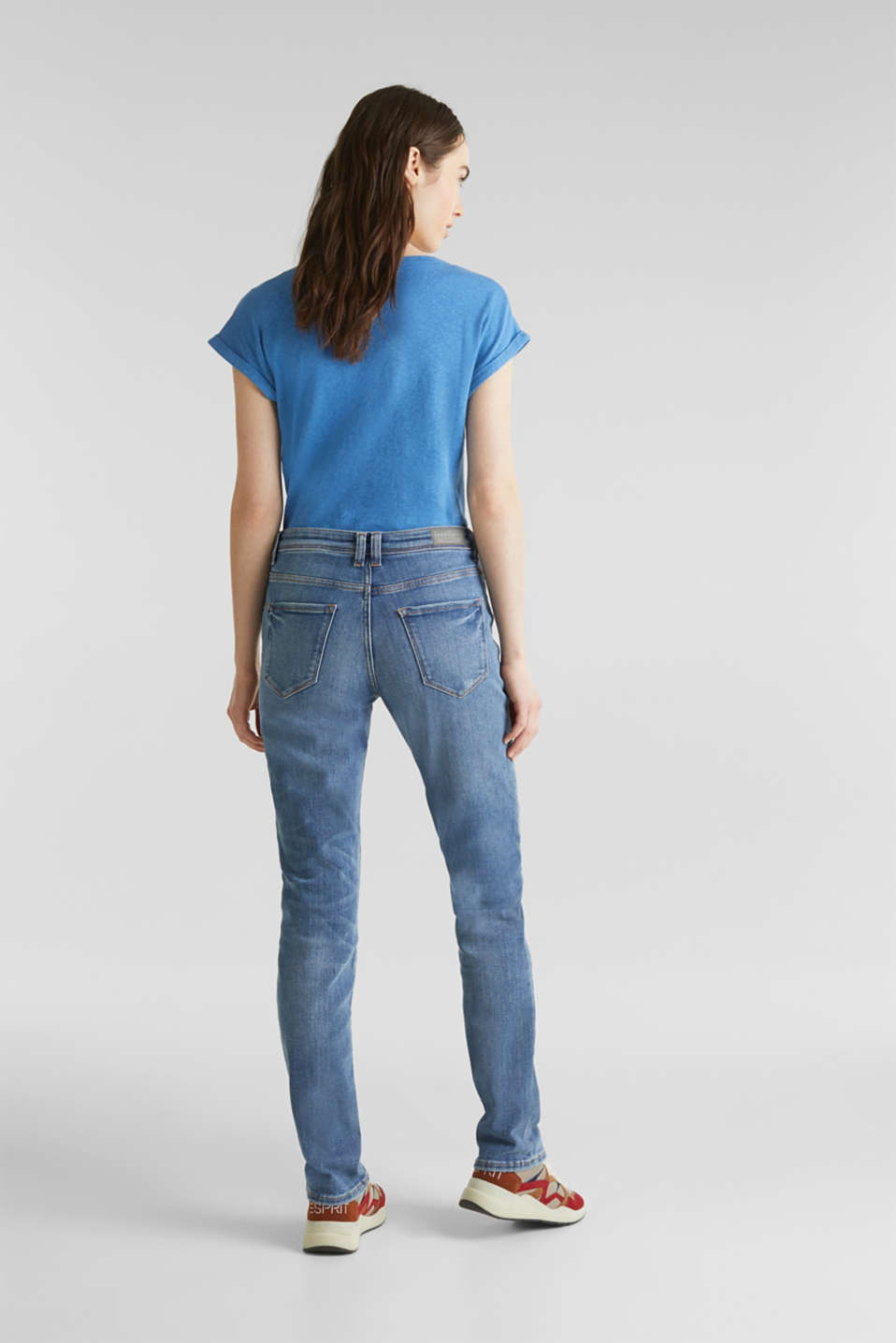 Stretch jeans in new fabric, BLUE MEDIUM WASH, detail image number 3