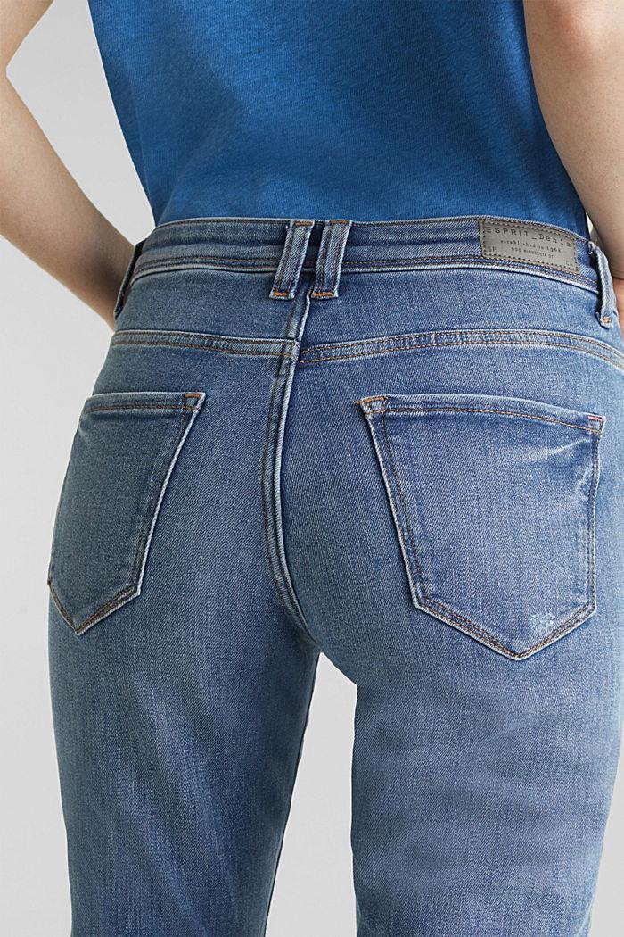 Stretch-Jeans in neuer Qualität, BLUE MEDIUM WASHED, detail image number 5