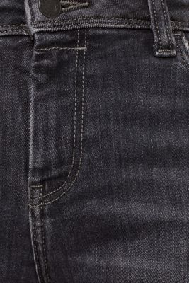 Stretch jeans in new fabric, BLACK MEDIUM WASH, detail