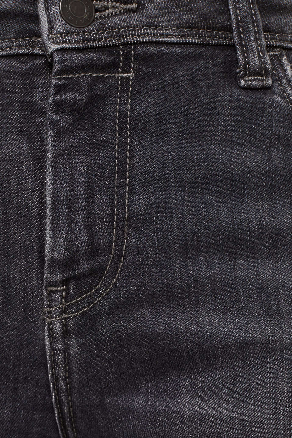 Stretch jeans in new fabric, BLACK MEDIUM WASH, detail image number 4