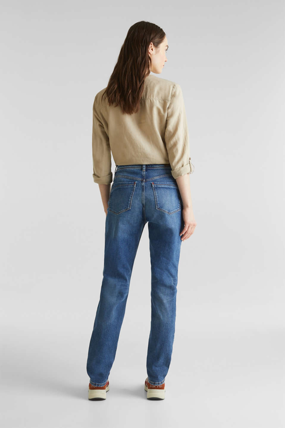 stretch jeans in a new fit, BLUE MEDIUM WASH, detail image number 3