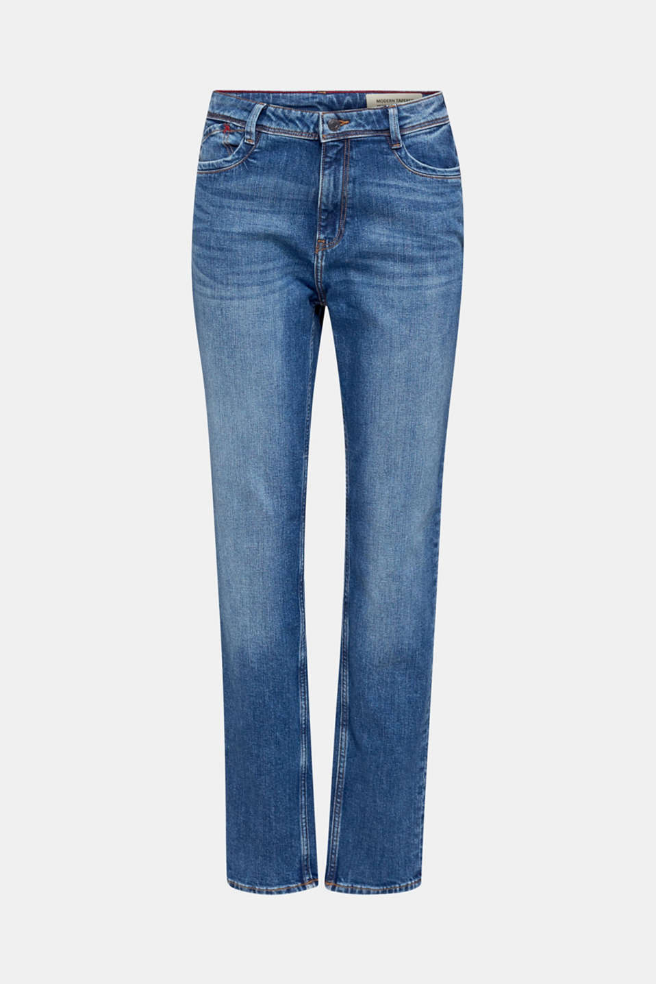 stretch jeans in a new fit, BLUE MEDIUM WASH, detail image number 7