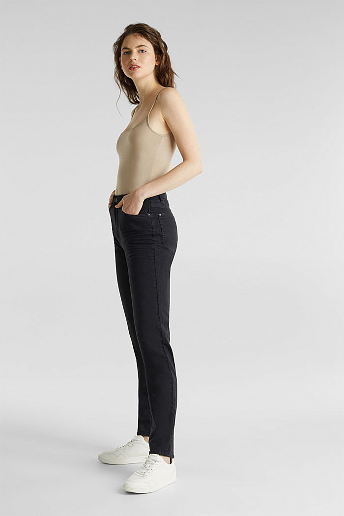 Stretch trousers with a fashionable fit, BLACK, detail image number 0
