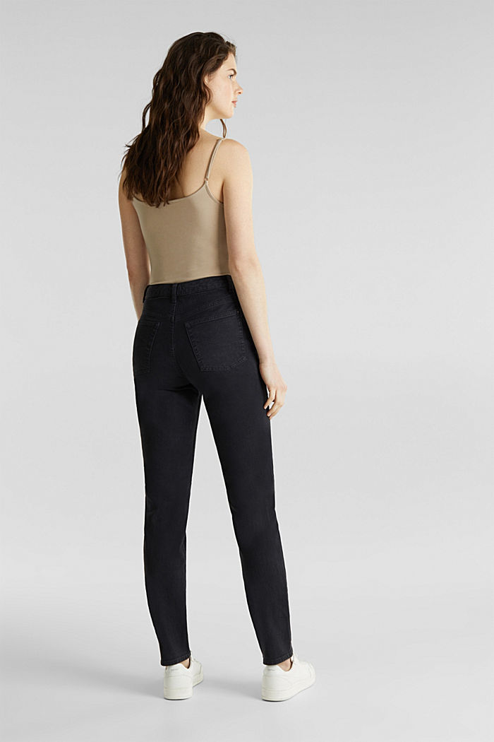 Stretch trousers with a fashionable fit, BLACK, detail image number 3