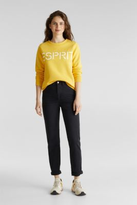 Stretch trousers with a fashionable fit, BLACK, detail