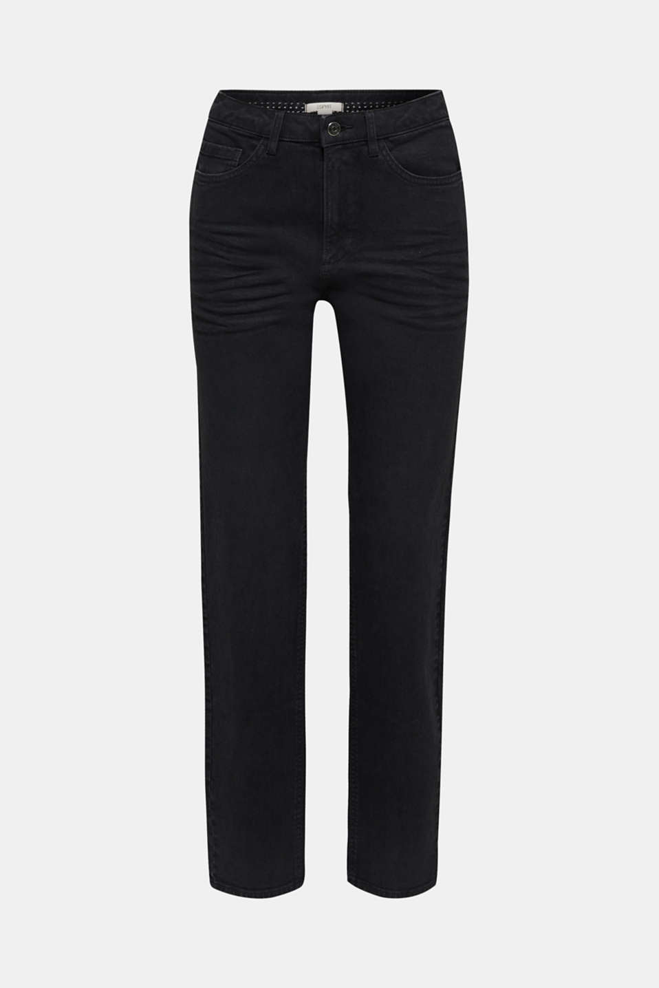Stretch trousers with a fashionable fit, BLACK, detail image number 6