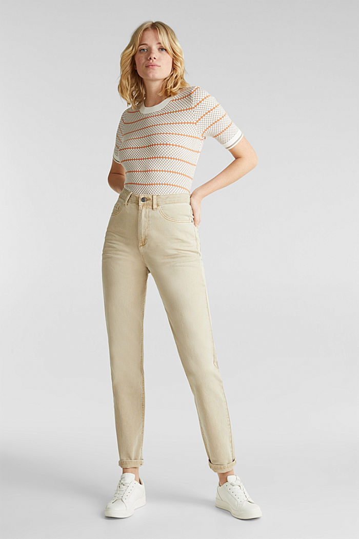 Stretch trousers with a fashionable fit, BEIGE, detail image number 0