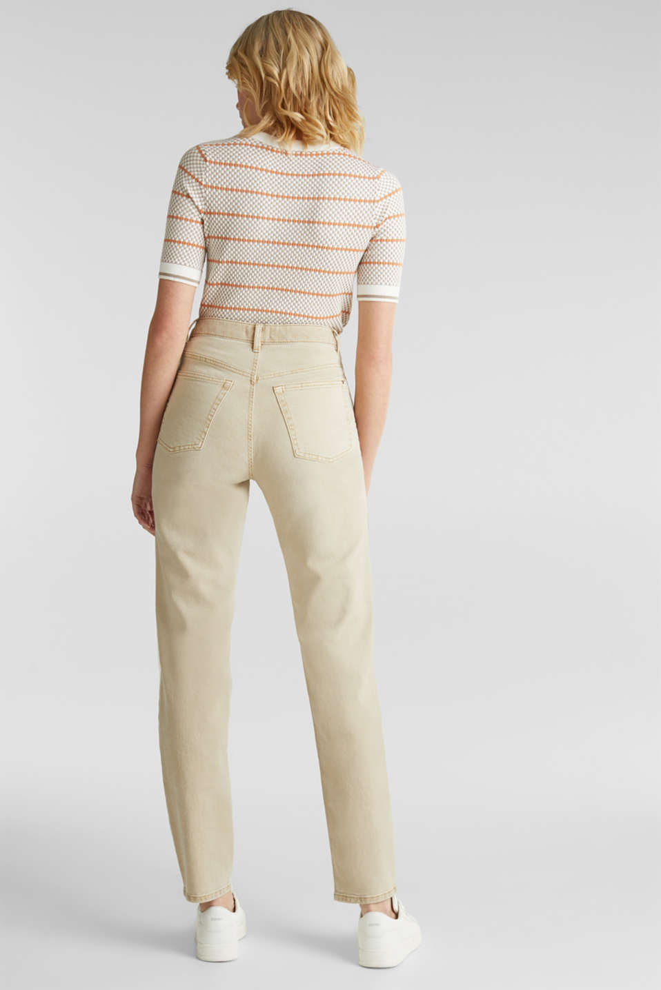 Stretch trousers with a fashionable fit, BEIGE, detail image number 3