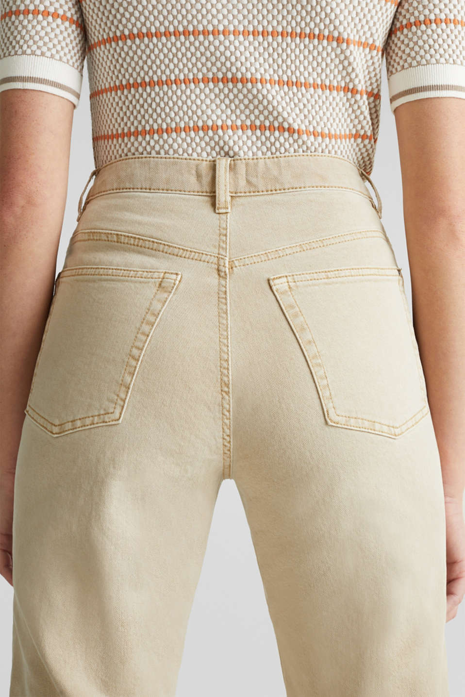 Stretch trousers with a fashionable fit, BEIGE, detail image number 5