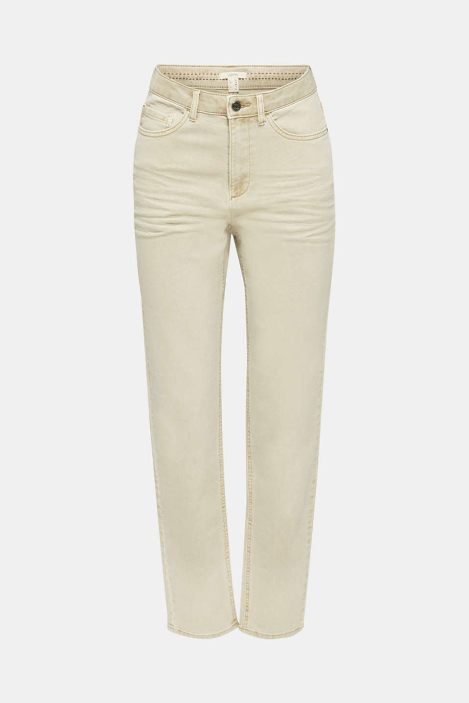 Stretch trousers with a fashionable fit, BEIGE, detail image number 7