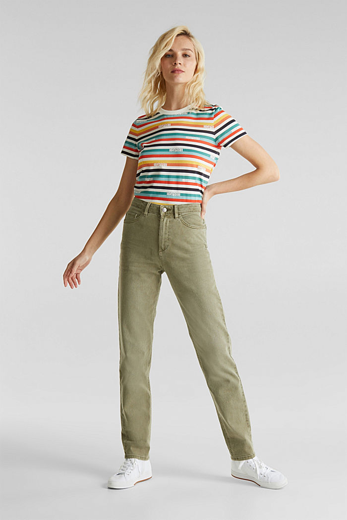 Stretch-Pants mit modischem Fit, KHAKI GREEN, detail image number 0