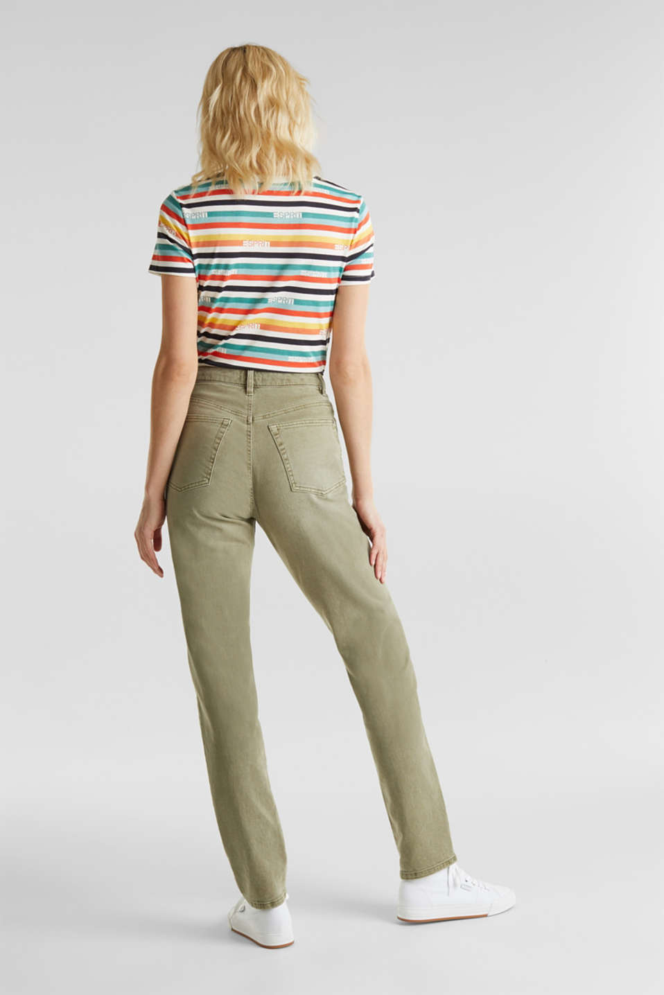 Stretch trousers with a fashionable fit, KHAKI GREEN, detail image number 3