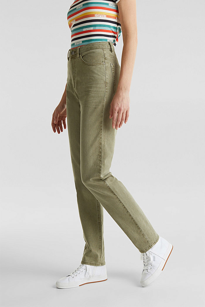 Stretch-Pants mit modischem Fit, KHAKI GREEN, detail image number 6