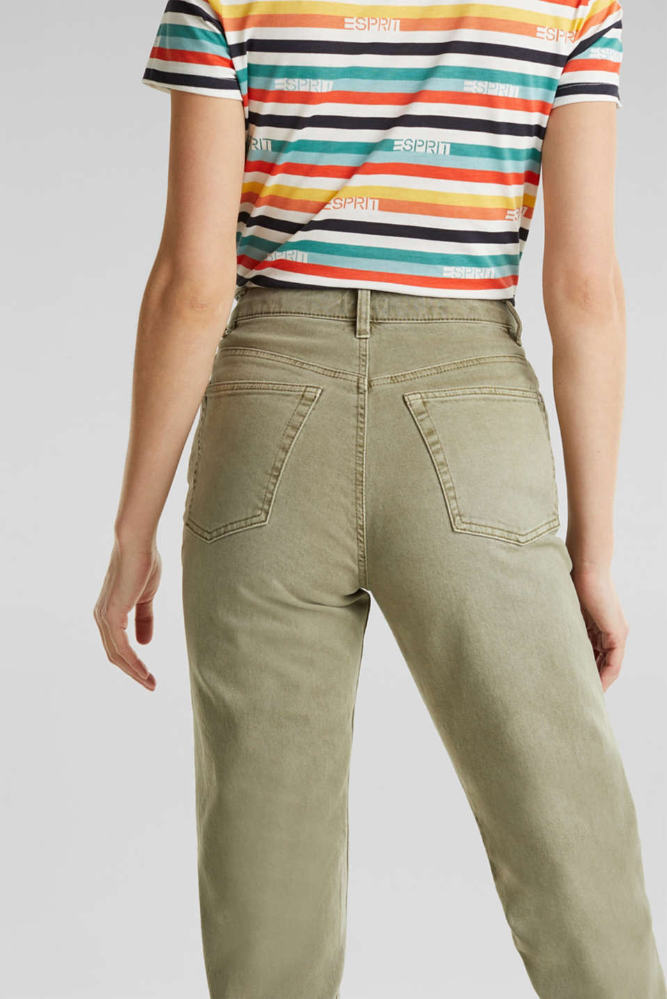 Stretch trousers with a fashionable fit, KHAKI GREEN, detail image number 5