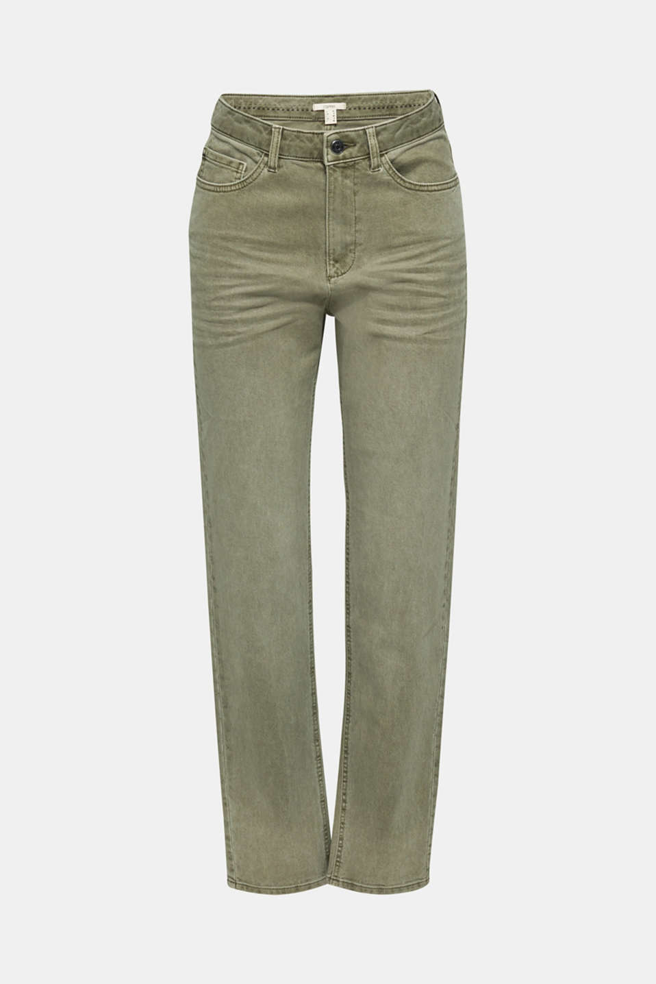 Stretch trousers with a fashionable fit, KHAKI GREEN, detail image number 7