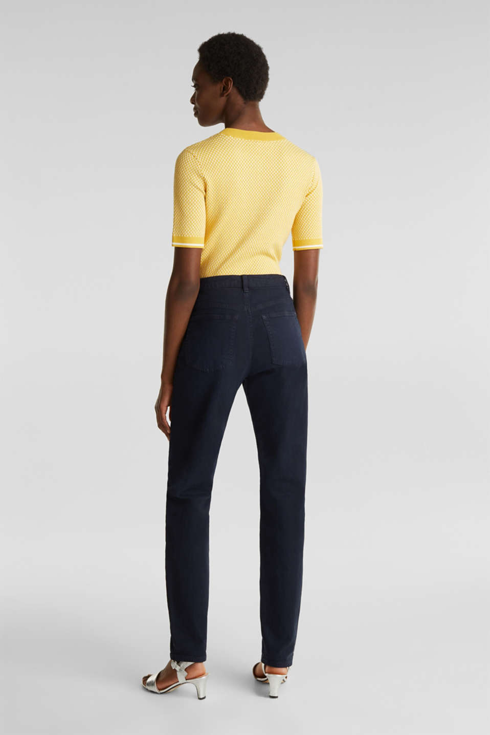 Stretch trousers with a fashionable fit, NAVY, detail image number 3