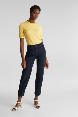 Stretch trousers with a fashionable fit, NAVY, detail