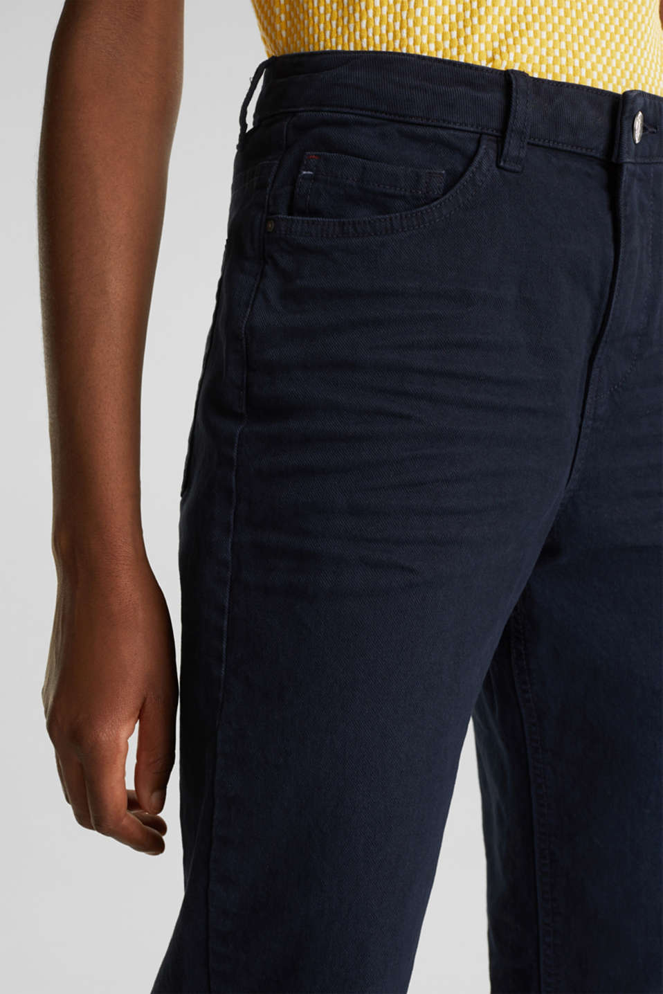 Stretch trousers with a fashionable fit, NAVY, detail image number 2