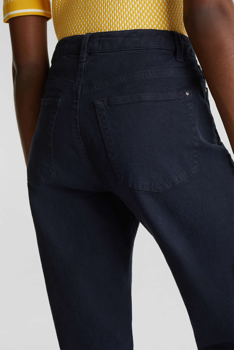 Stretch trousers with a fashionable fit, NAVY, detail image number 5