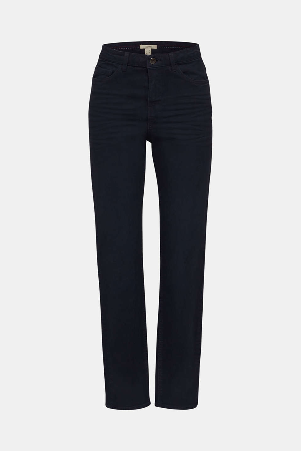 Stretch trousers with a fashionable fit, NAVY, detail image number 6