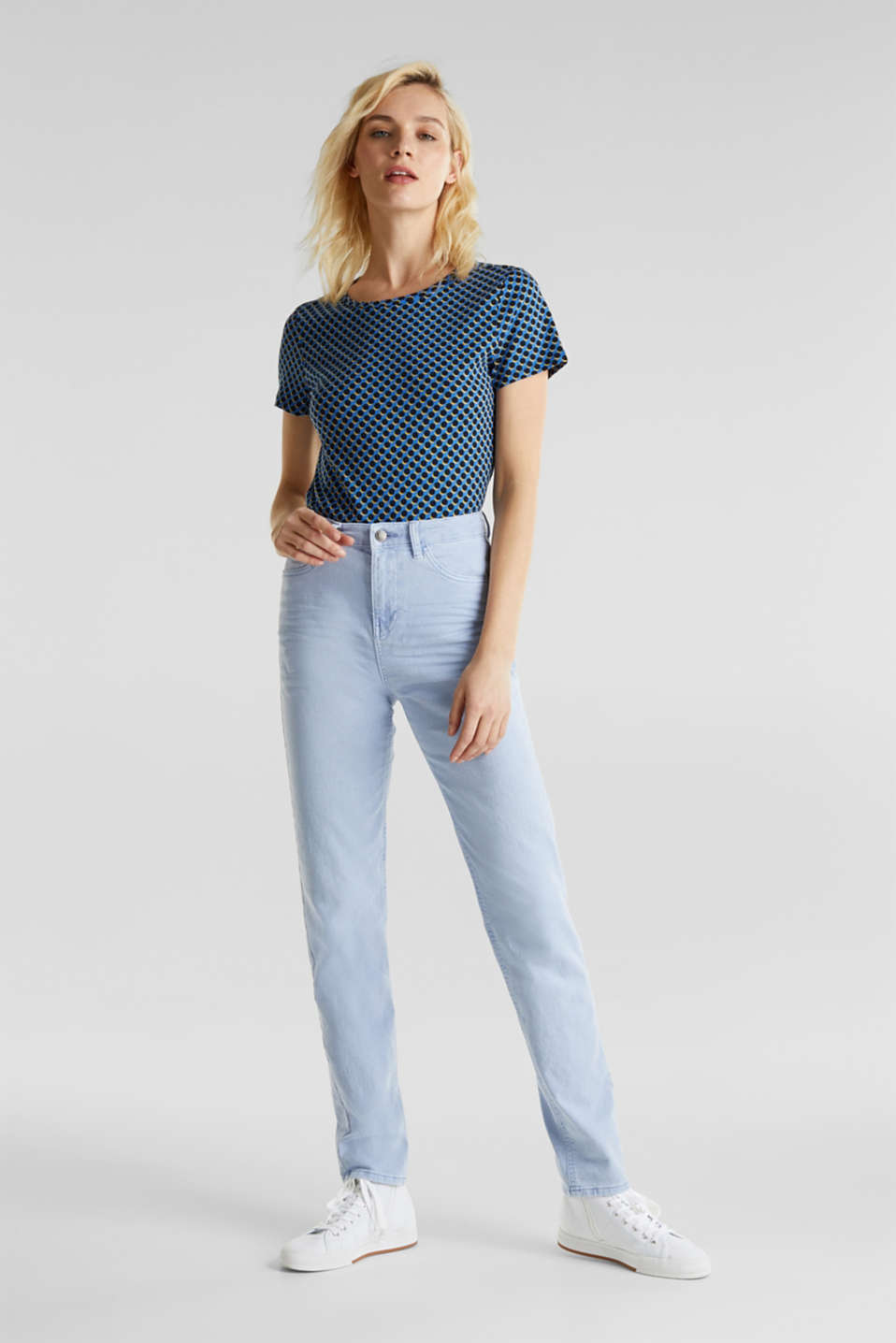 Stretch trousers with a fashionable fit, LIGHT BLUE, detail image number 0