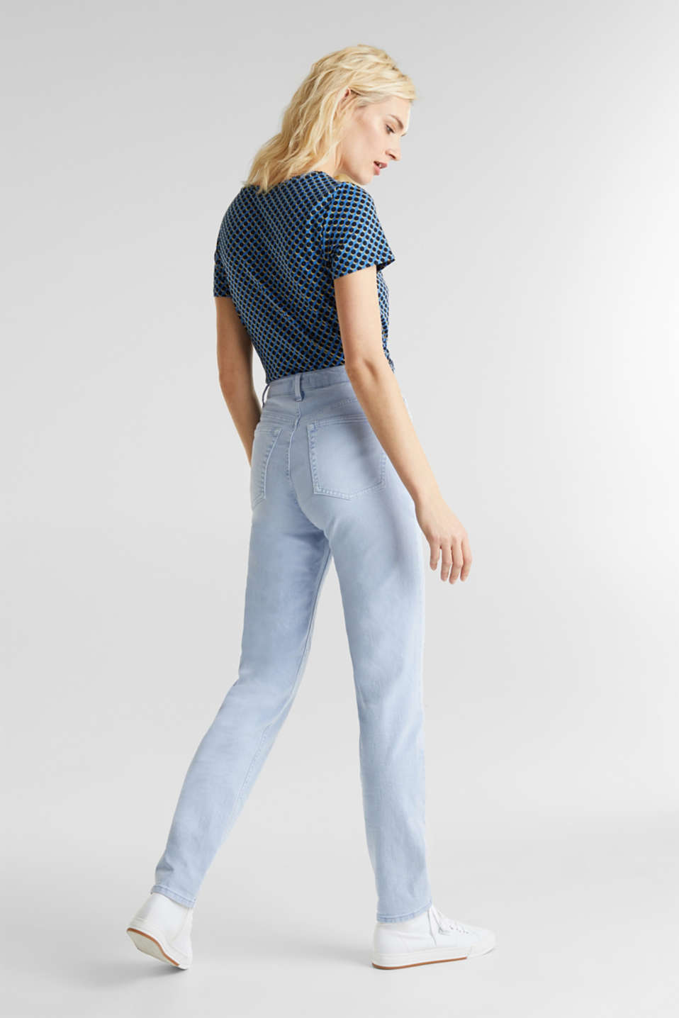 Stretch trousers with a fashionable fit, LIGHT BLUE, detail image number 3