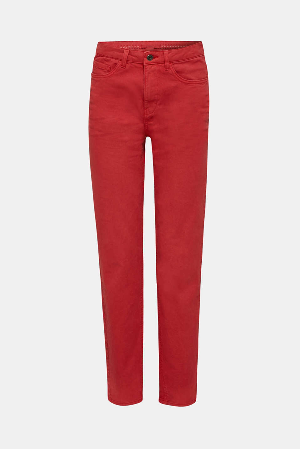Stretch trousers with a fashionable fit, DARK RED, detail image number 7