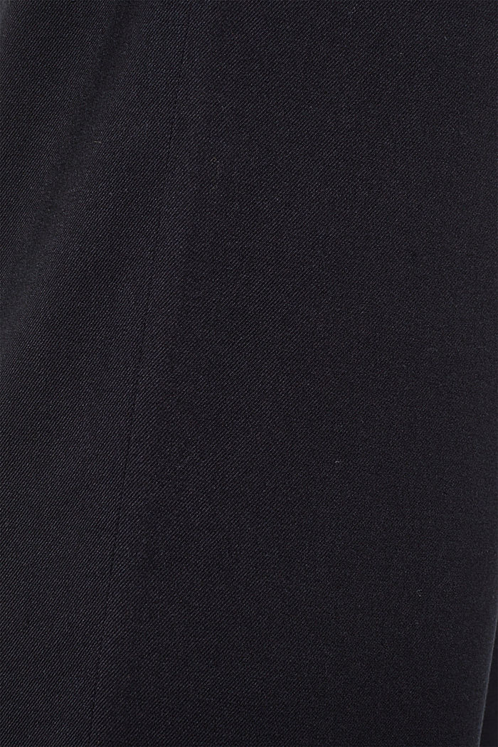 Wide-leg flannel trousers, BLACK, detail image number 4