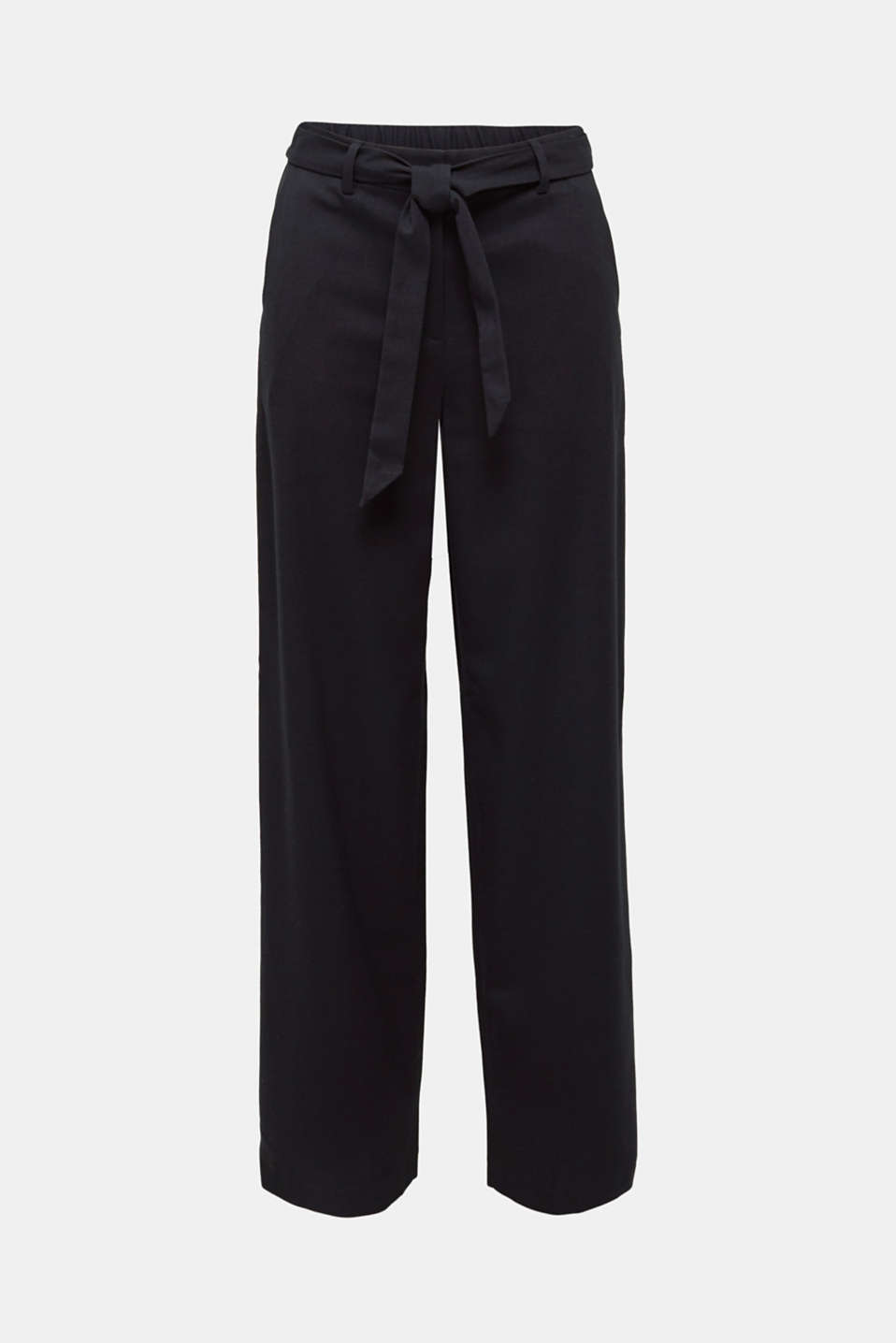 Wide-leg flannel trousers, BLACK, detail image number 8