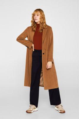 Wide-leg flannel trousers, NAVY, detail