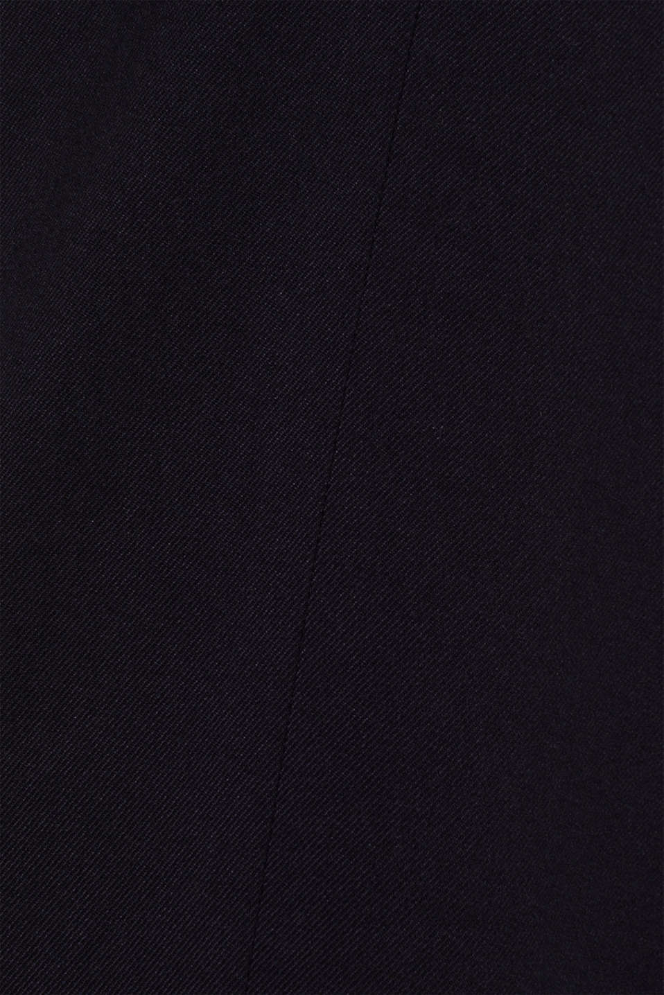 Wide-leg flannel trousers, NAVY, detail image number 4