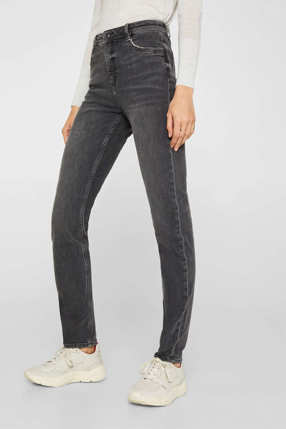stretch jeans in a new fit, GREY MEDIUM WASH, detail image number 6