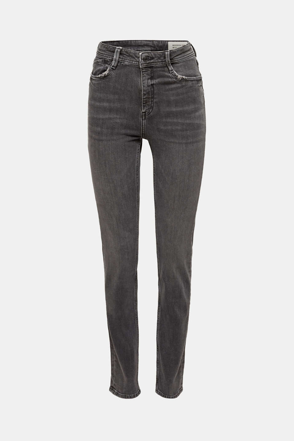 stretch jeans in a new fit, GREY MEDIUM WASH, detail image number 7