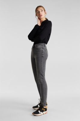 Stretch jeans with side trims, GREY MEDIUM WASH, detail