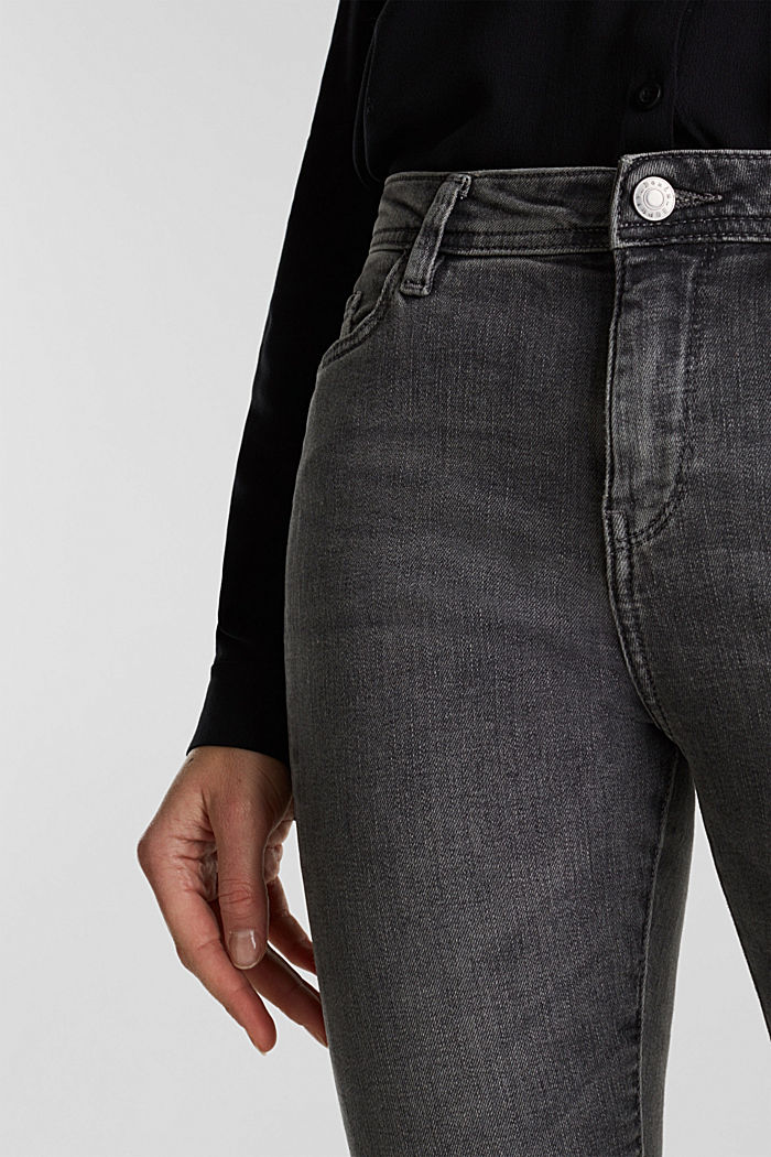 Stretch jeans with side trims, GREY MEDIUM WASHED, detail image number 2