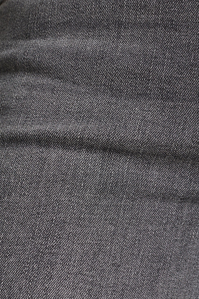 Stretch jeans with side trims, GREY MEDIUM WASHED, detail image number 4