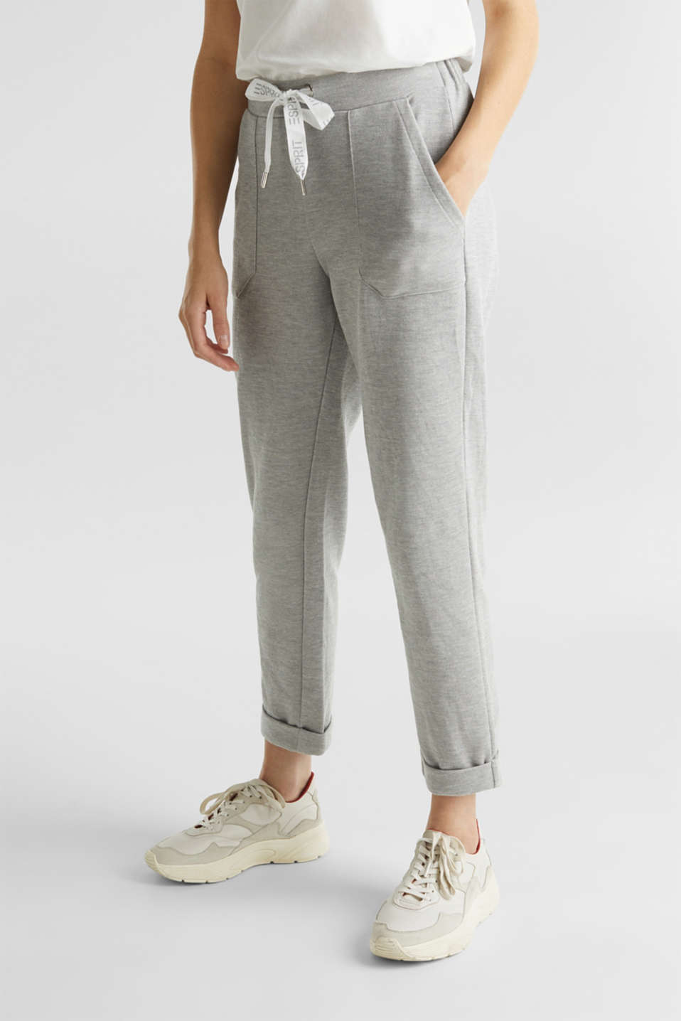 Esprit - Tracksuit bottoms made of soft piqué