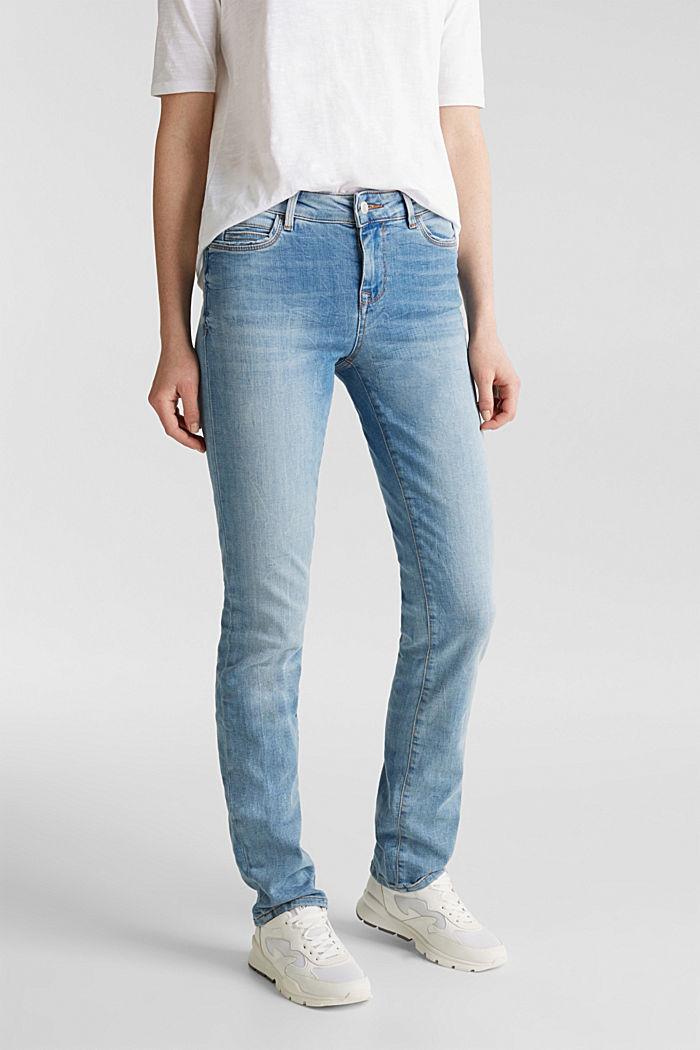 Zeer elastische jeans met lichte wassing, BLUE MEDIUM WASH, detail image number 0