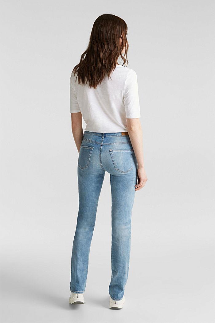 Zeer elastische jeans met lichte wassing, BLUE MEDIUM WASH, detail image number 3