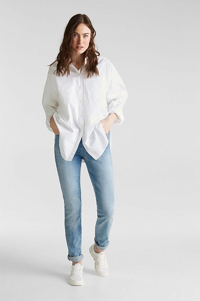 Zeer elastische jeans met lichte wassing, BLUE MEDIUM WASH, detail image number 6