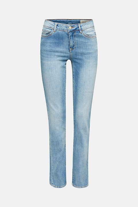 Super stretchy jeans in a pale garment wash