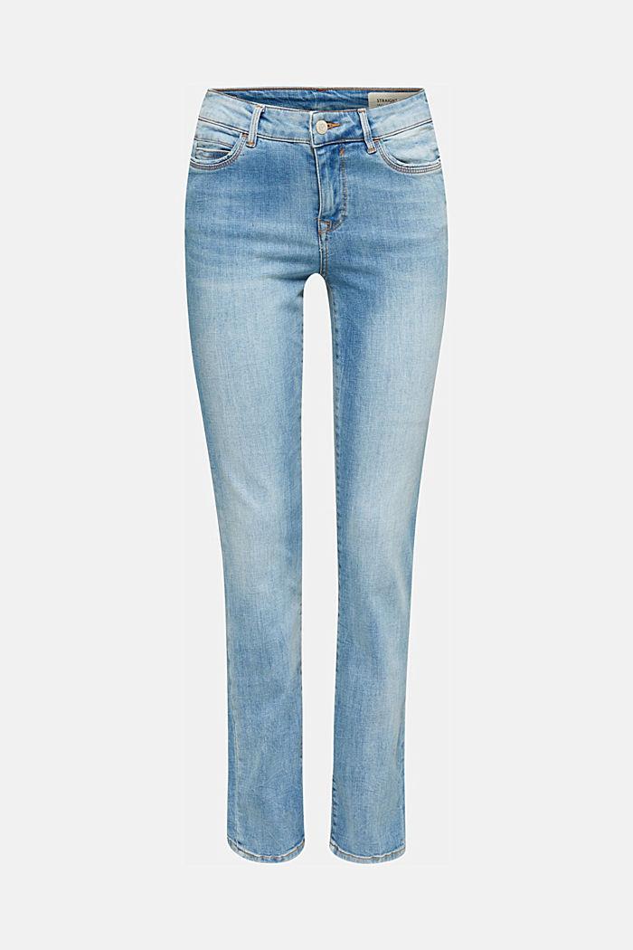 Zeer elastische jeans met lichte wassing, BLUE MEDIUM WASH, detail image number 7