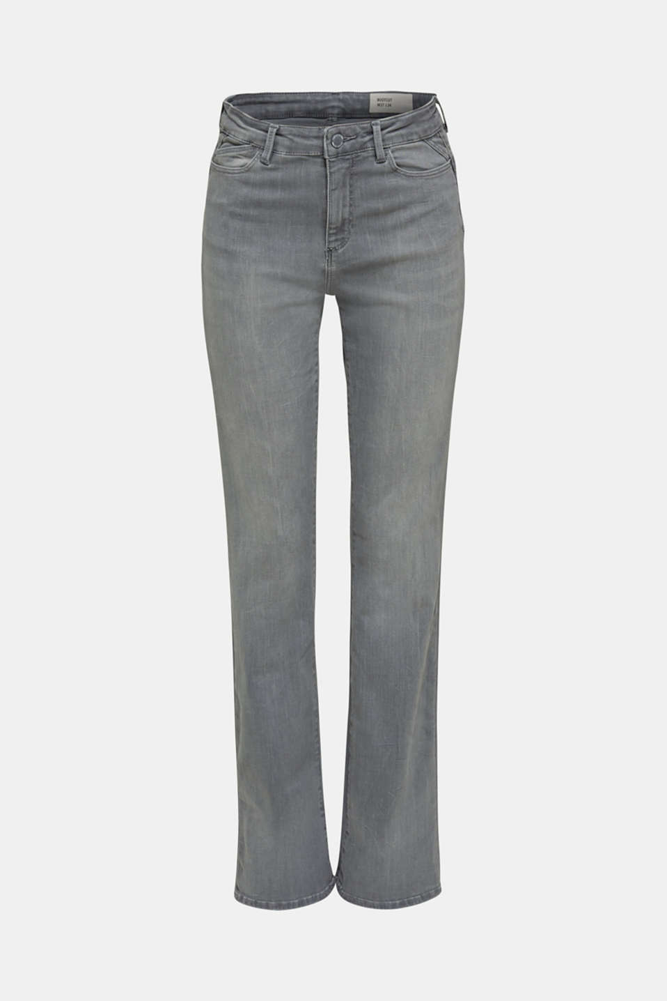 Bootcut jeans with a high waistband, GREY MEDIUM WASH, detail image number 7