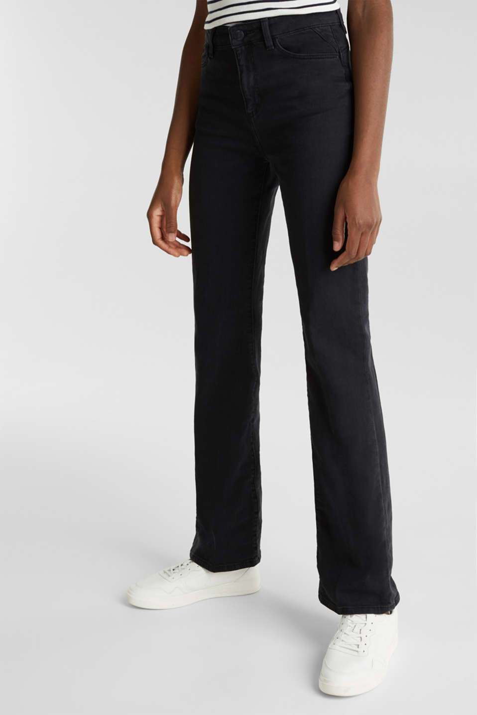 Bootcut jeans with a high waistband, BLACK RINSE, detail image number 6