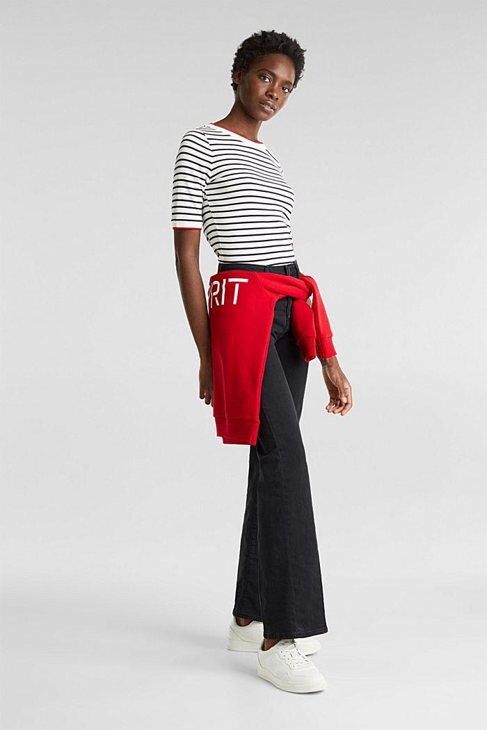 Zvonové džíny s vysokým pasem, BLACK RINSE, detail image number 1