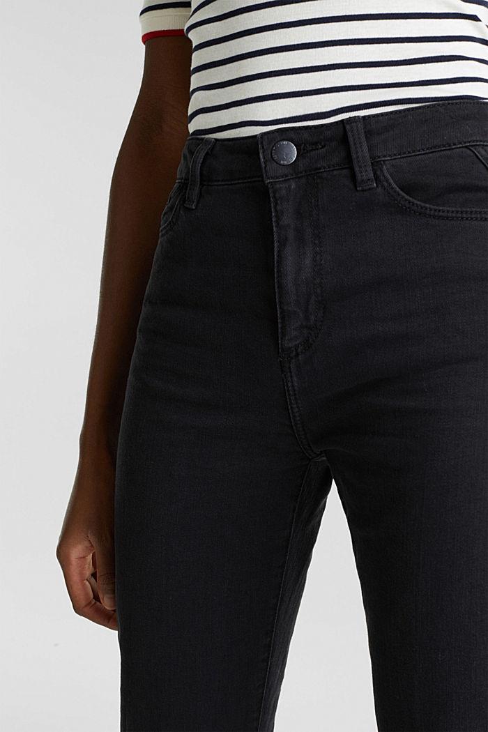 Zvonové džíny s vysokým pasem, BLACK RINSE, detail image number 2